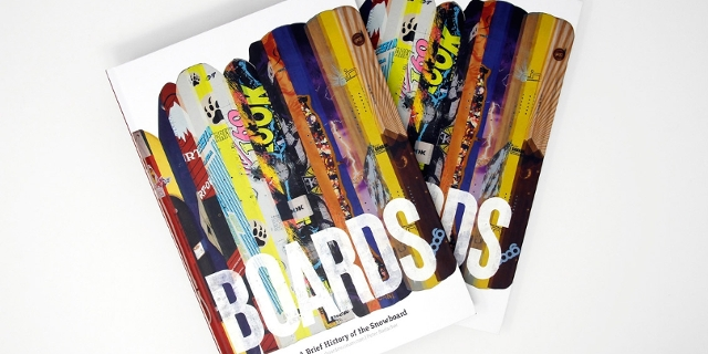 "Buchcover von ""Boards. A brief history of the snowboard"""