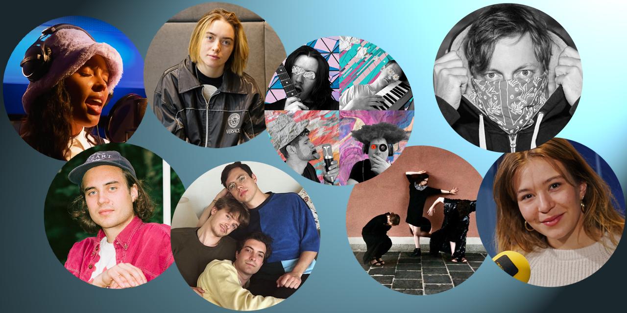 Acht Bands bzw. Musiker und Musikerinnen