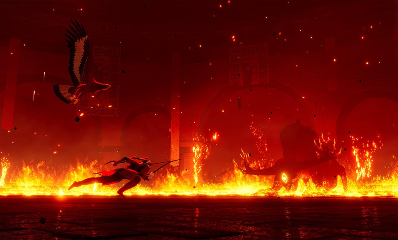 """Bildschirmfoto aus dem Computerspiel """"The Pathless"""""""