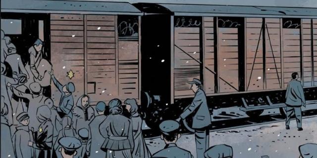"""Bilder aus der Graphic Novel """"Bald sind wir wieder zu Hause"""" von Jessica Bab Bonde und  Peter Bergting"""