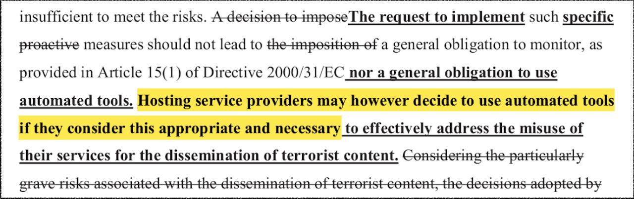 Entschärfte EU-Verordnung gegen Terror im Finale