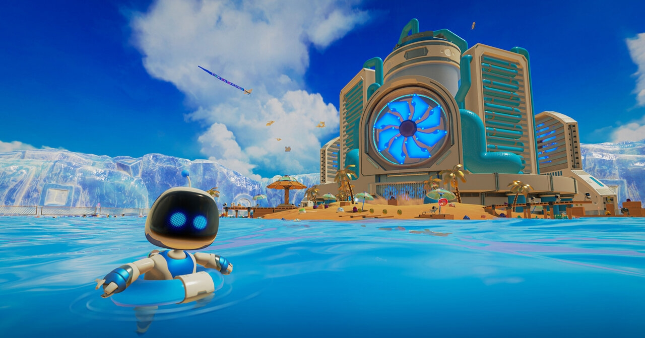 """Bildschirmfoto aus dem Videospiel """"Astro's Playground"""" für die Playstation 5"""