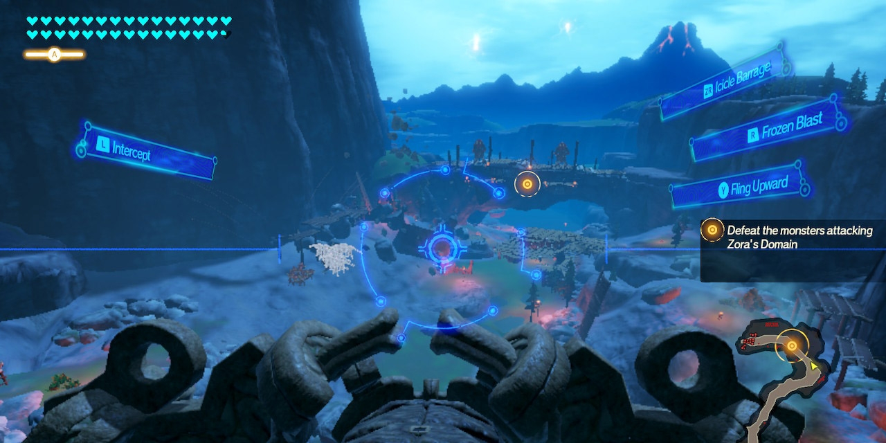 "Screenshots aus dem Game ""Hyrule Warrior"""