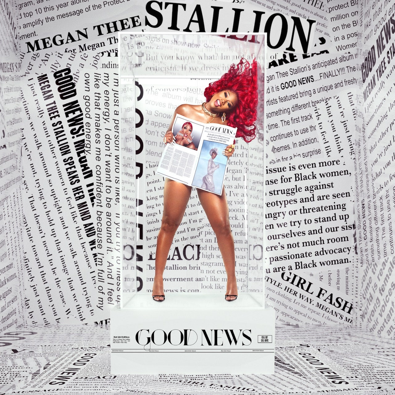 "Megan Thee Stallion Cover des Albums ""Good News"""