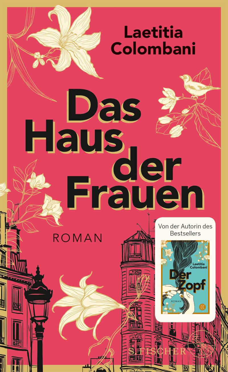 Buchcover: Illustration mit Häusern, Blumen und einem Vogel