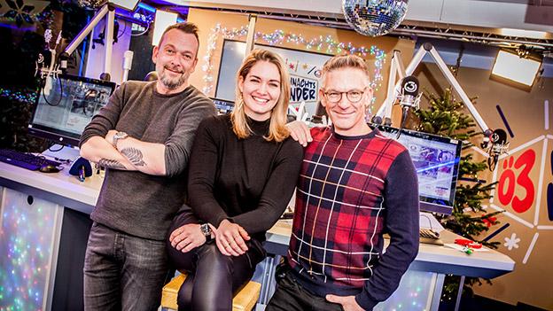 Robert Kratky, Gabi Hiller und Andi Knoll beim Ö3-Weihnachtswunder