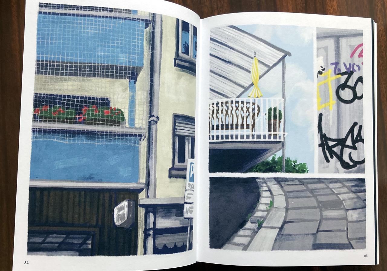 """Comic """"Bei mir zuhause"""": Gegenüberliegende Balkone"""