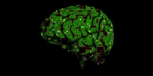 Computerchips im Gehirn - Symbolbild