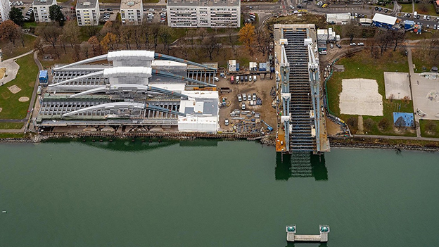 Luftaufnahme Donaubrücke Linz