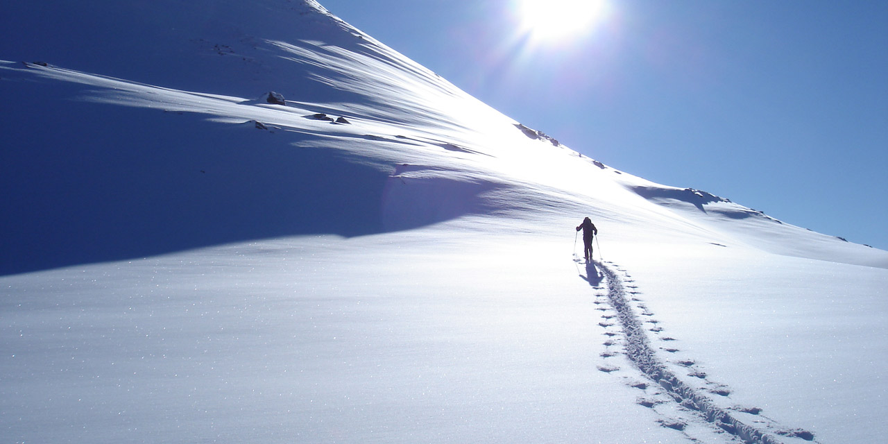 Skitourenspur