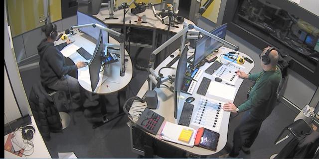 Totale Studioaufnahme während der Morning Show