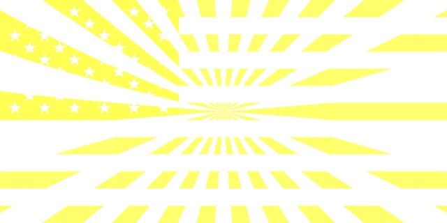 Abstrakt: Sonne und US-Flagge