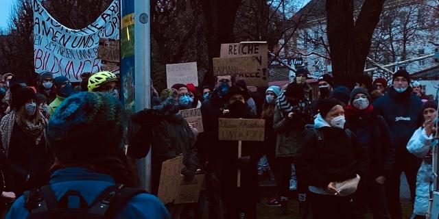 Demonstration gegen die UG-Novelle
