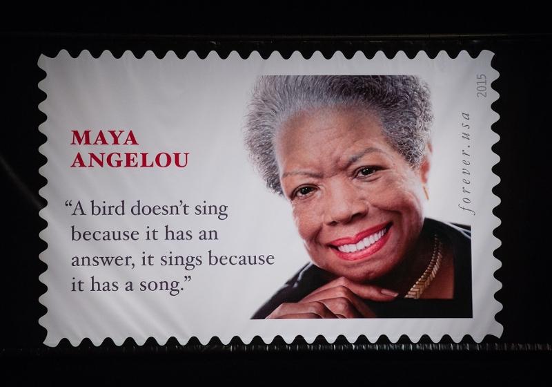 Maya Angelou auf einer Briefmarke