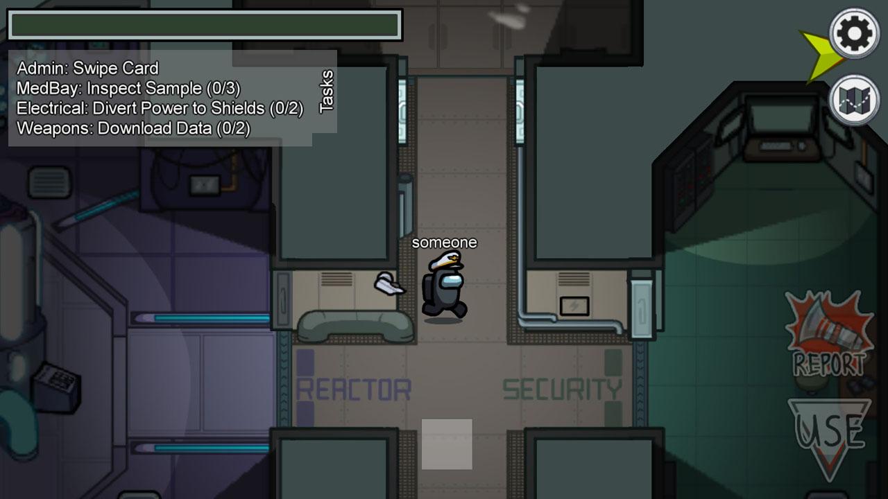 "Bildschirmfoto aus dem Game ""Among Us"""