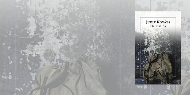 """Buchcover """"Heimatlos"""" vor verblasstem, grauen Hintergrund"""