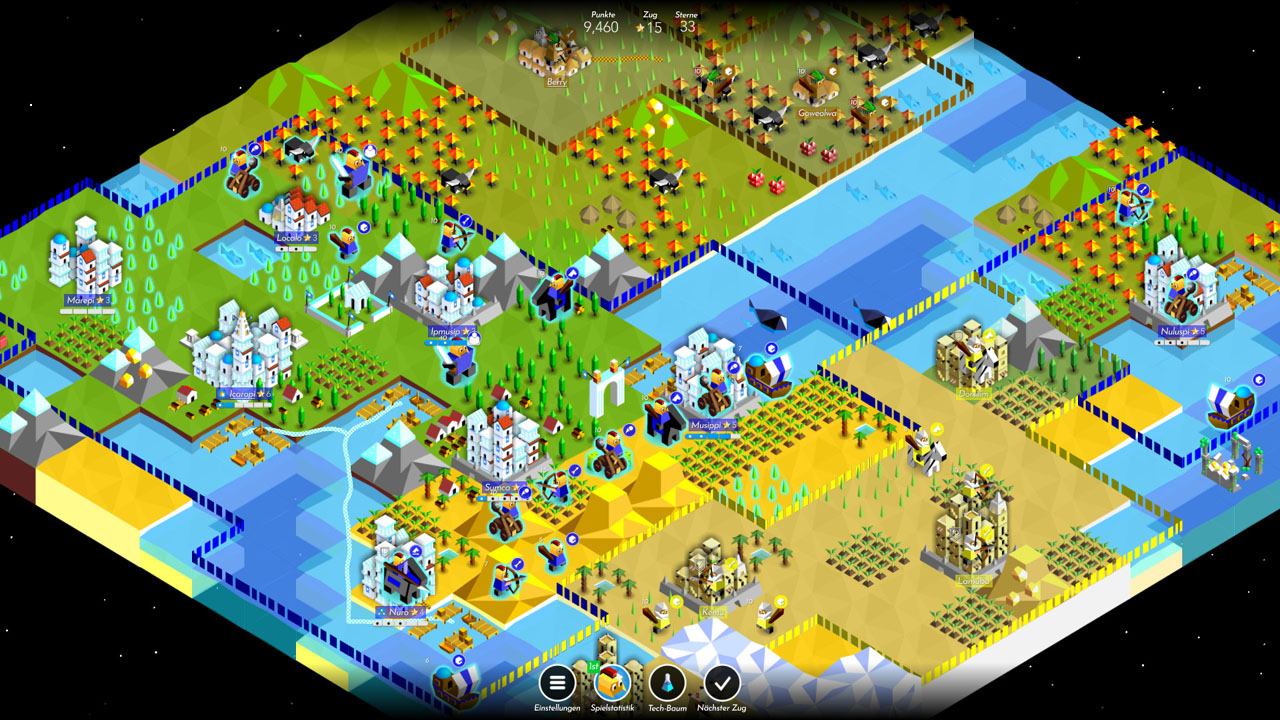 "Screenshot aus dem Game ""The Battle of Polytopia"""