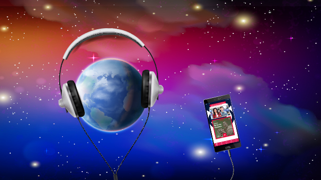 Welt Erde Planet Kopfhörer Musik