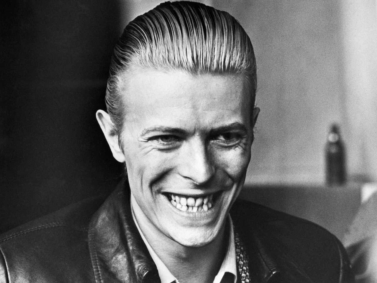 April 1, 1976, British singer David Bowie is pictured, in April 1976, in Helsinki.