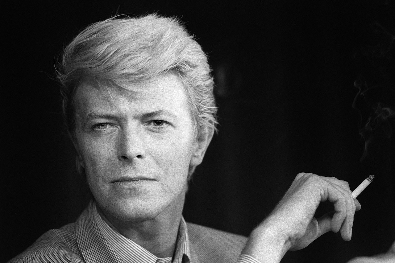 May 13, 1983, British singer David Bowie during a press conference at the 36th Cannes Film Festival