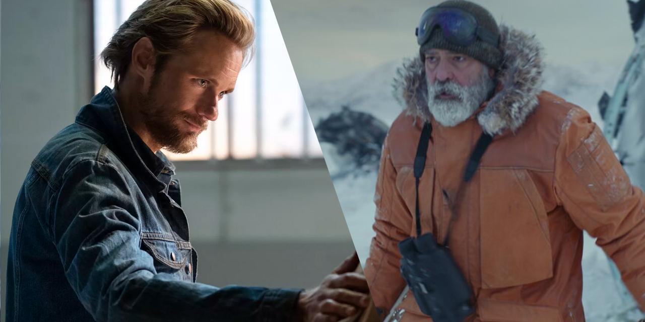 Szene aus George Clooneys aktuelles Sci-Fi-Epos und der neuesten Stephen-King-Verfilmung