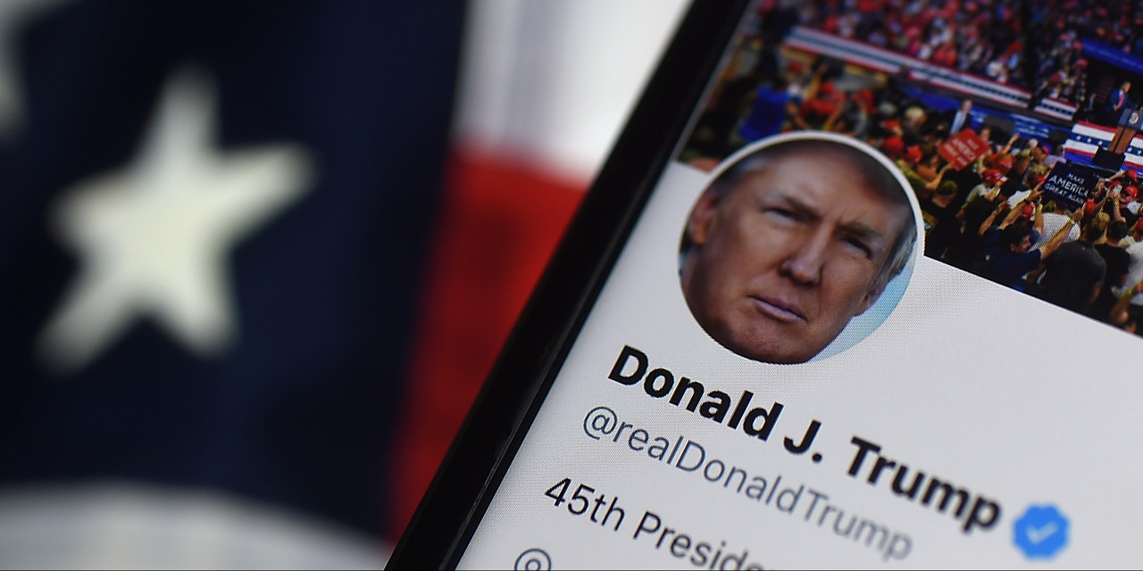 Screenshot von Donald Trumps Twitter-Account