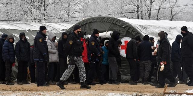 Flüchtlinge im Lage Lipa