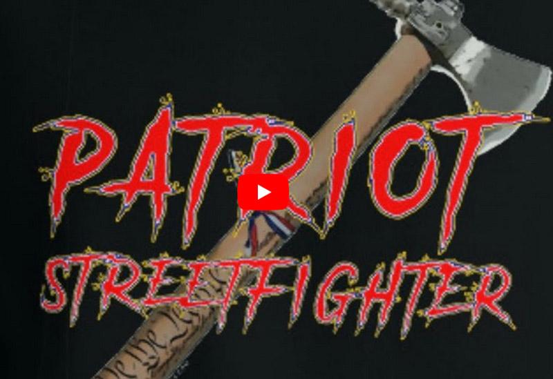 Youtube-Screenshot: Zu sehen ist eine Axt mit dem Schriftzug Patriot Streetfighter