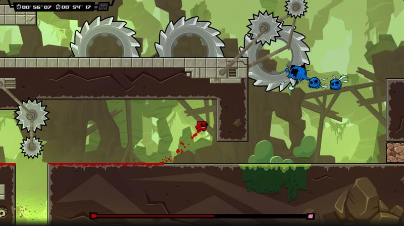 """Bildschirmfoto aus dem Computerspiel """"Super Meat Boy Forever"""""""