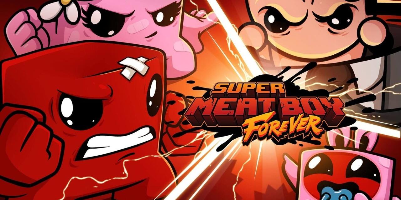 "Artwork aus dem Computerspiel ""Super Meat Boy Forever"""