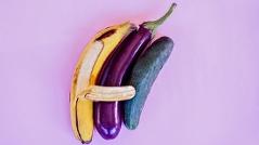 Gemüse in Sexstellung