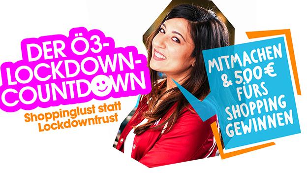 Aktionslogo: Der Ö3-Lockdown-Countdown, Ö3-Moderatorin Sheyda Kharrazi