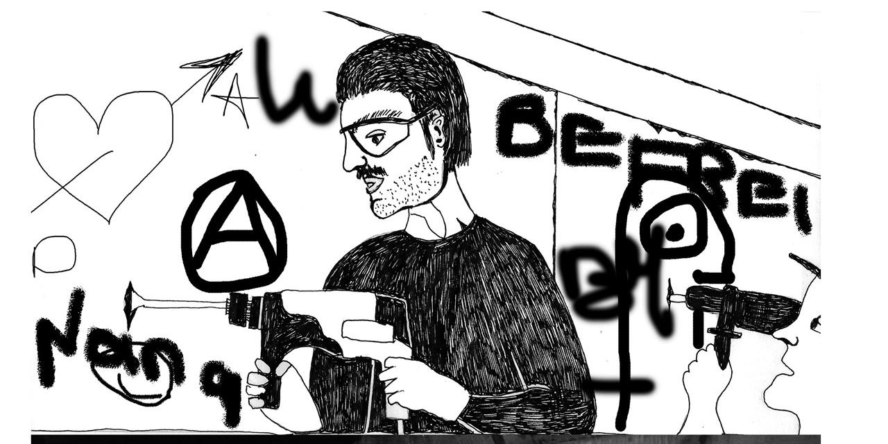 """Szenen aus der Graphic Novel """"Die heitere Kunst der Rebellion"""" von Danielle de Piciotto"""
