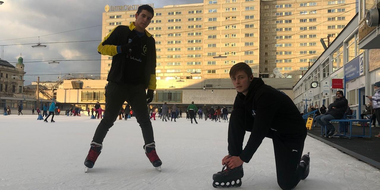 Die Ice Freestyle Allstars machen den Wiener Eislaufverein unsicher