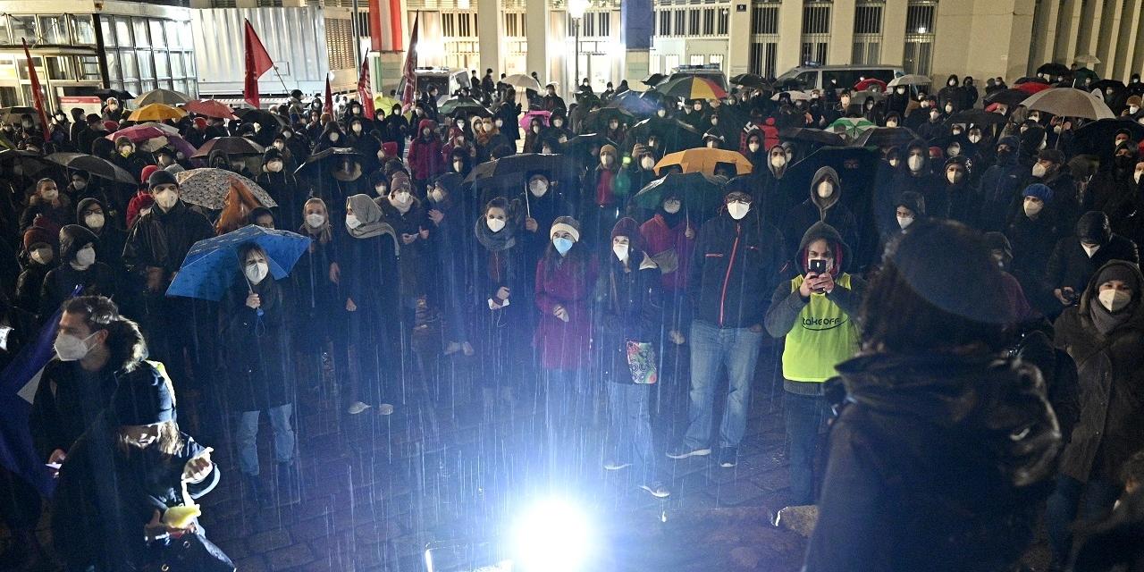 Demonstration anl. der aktuellen Abschiebepolitik der Regierung am Donnerstag, 28. Jänner 2021 in Wien
