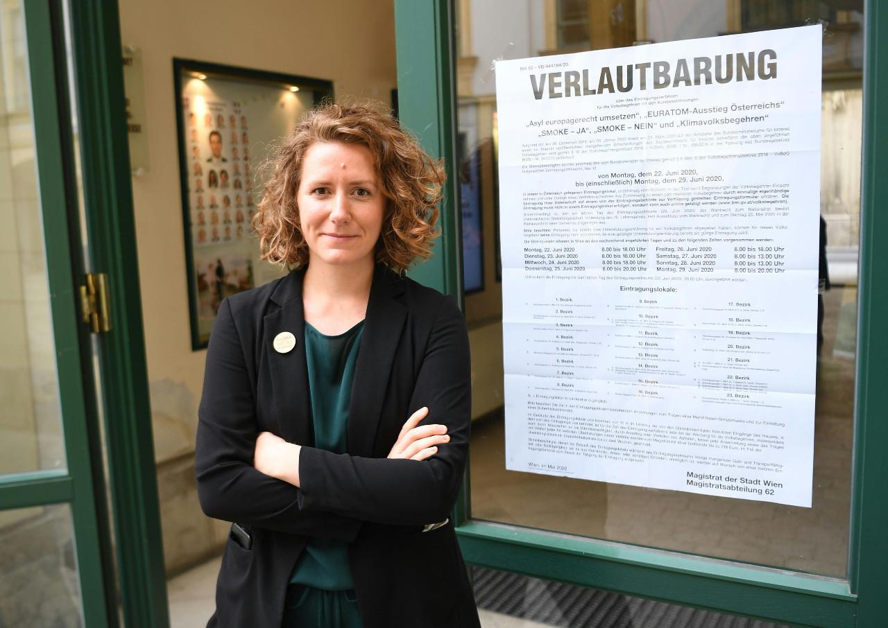 Die Sprecherin des Klimavolksbegehrens Katharina Rogenhofer