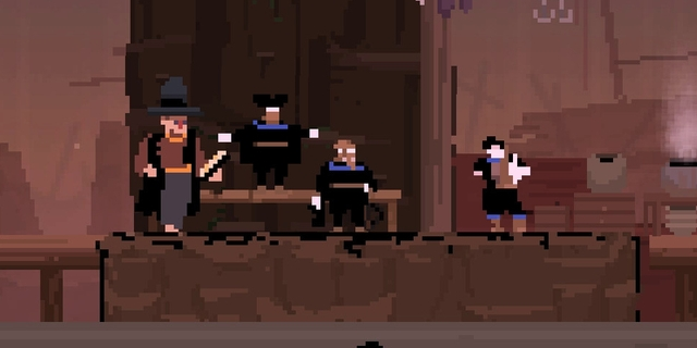 Screenshot Olija Bild der versammelten Mannschaft
