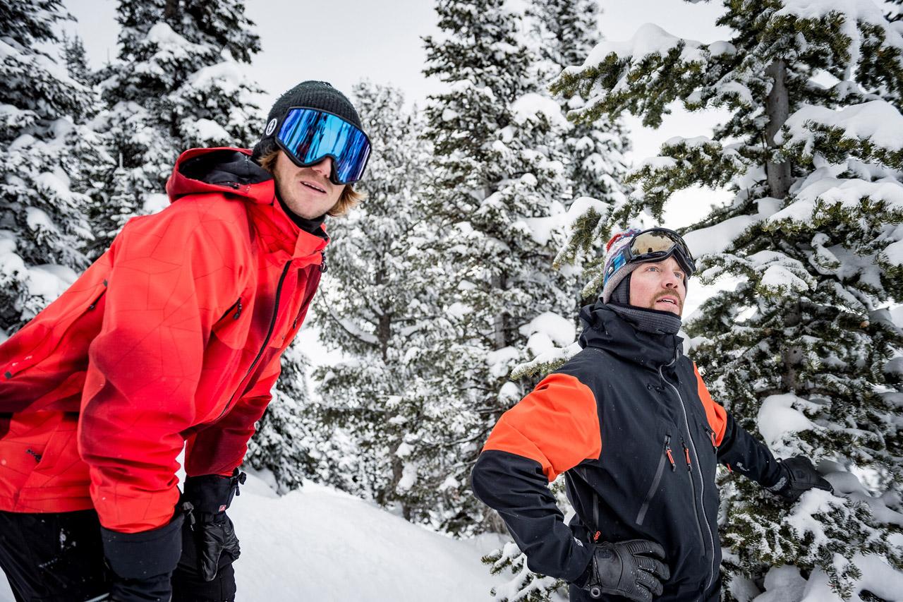 Werni Stock und Travis Rice beim Testevent der Natural Selection Tour