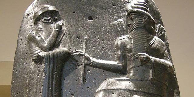 Stele mit dem Codex des Hammurapi im Louvre