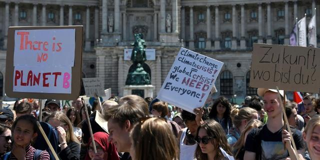 Eine Demonstration am Freitag, 24. Mai 2019, im Rahmen des Klimastreiks #FridaysForFuture in Wien