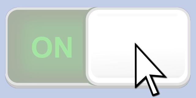 """Button auf """"On"""", kann nicht angeklickt werden"""