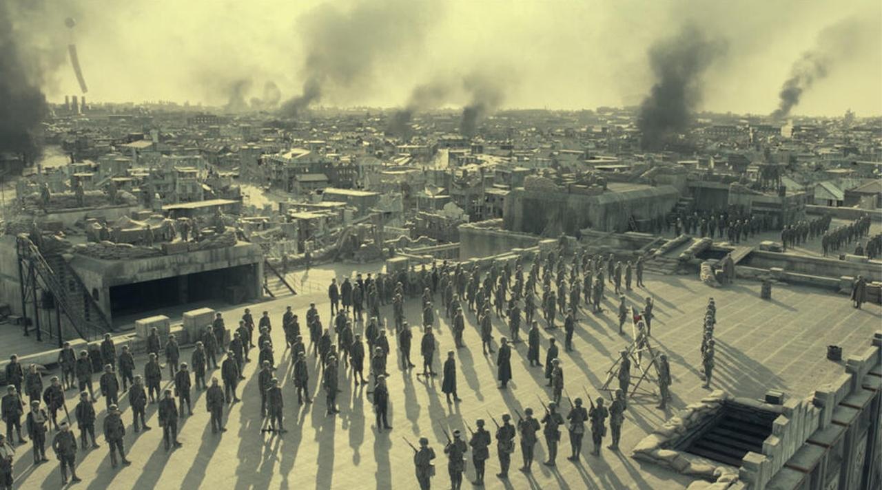 Soldaten in Formation