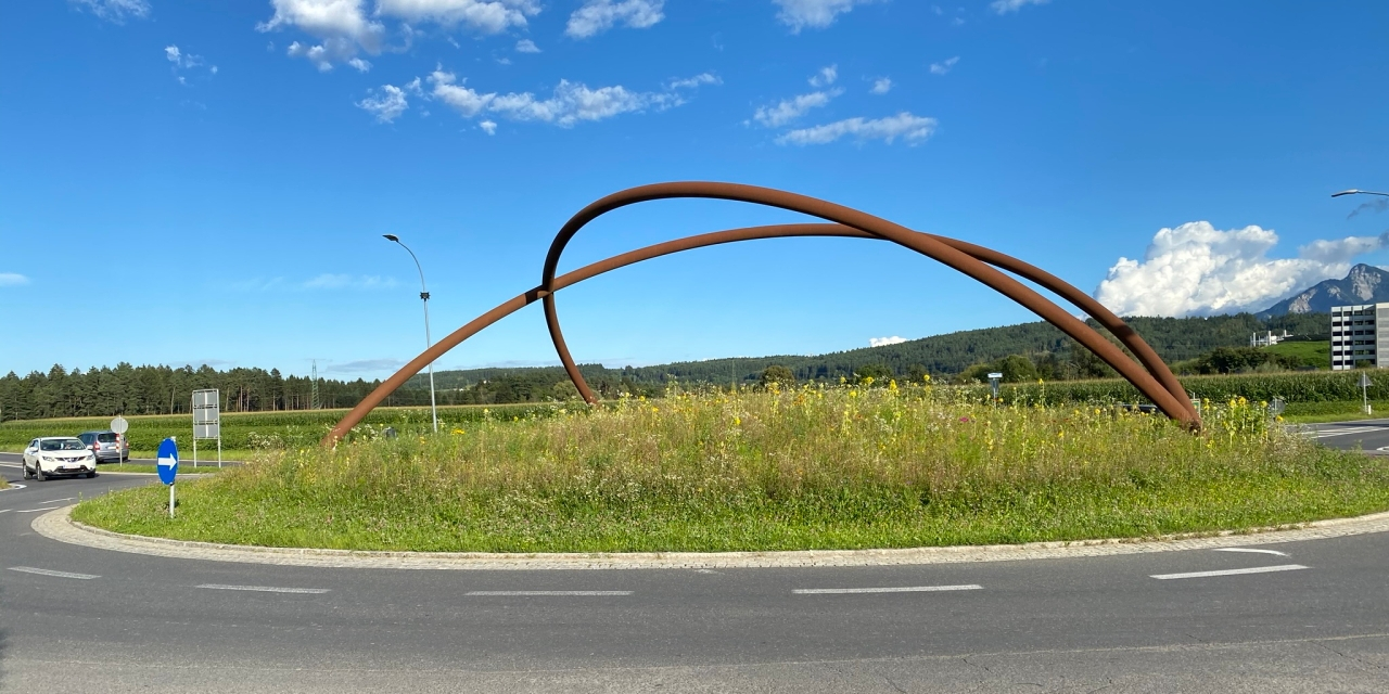 Kreisverkehr in Villach