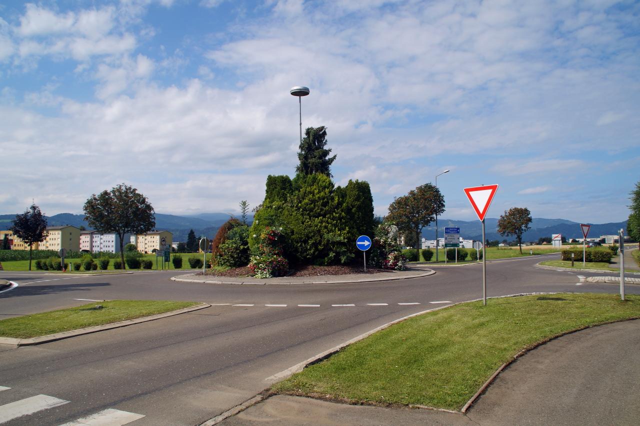 Kreisverkehr in Zeltweg