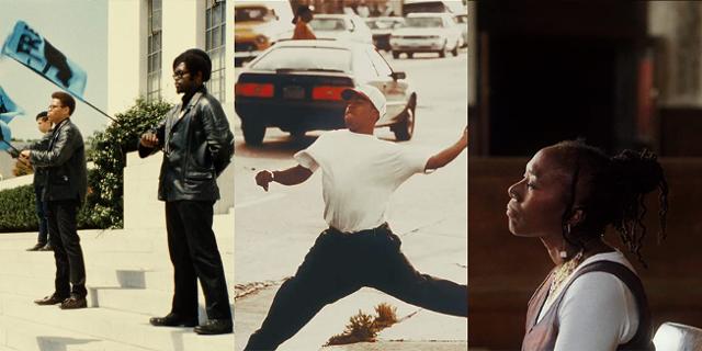 "Filmstills aus ""The 13th"", ""LA 92"", ""Black Panthers"""