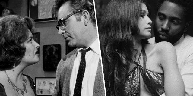 """Montage aus zwei Filmen: """"Who's Afraid of Virginia Woolf"""" und """"Malcolm & Marie"""". Zu sehen ist jeweils ein Paar mit Frau und Mann"""