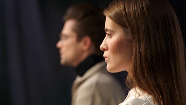Frau und Mann im Profil