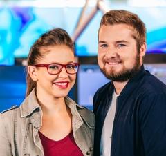 Moderatoren Foto - Sabine Hackl und Tarek Adamski