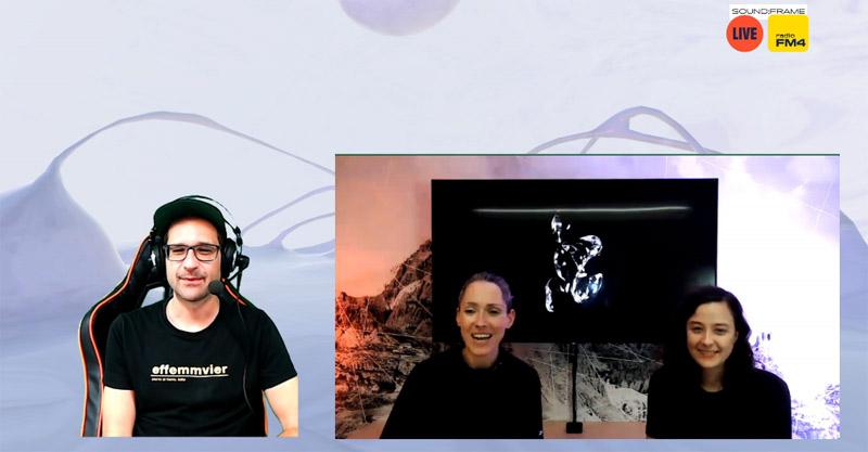 Screenshot von einer Twitch-Show mit Chris Stipkovits und Eva Fischer