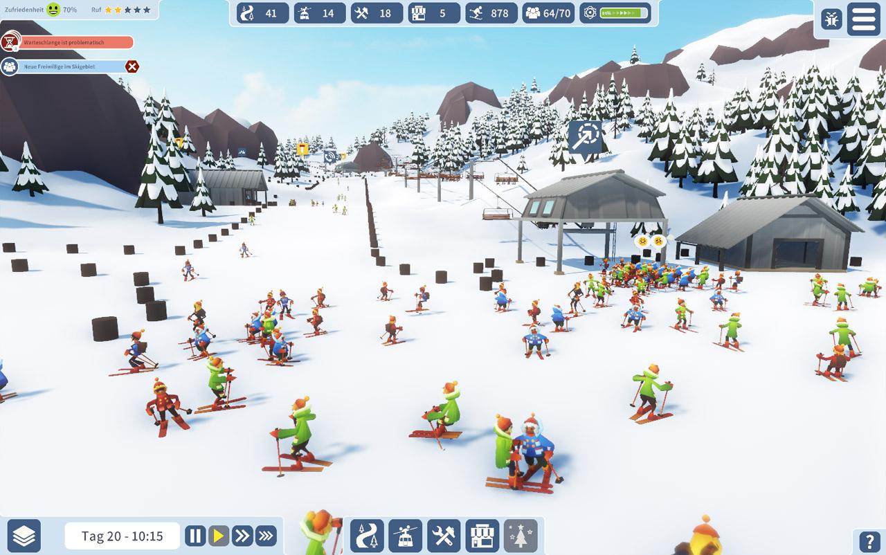 Screenshots aus dem Game Snowtopia